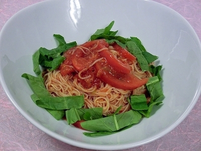 冷製トマトのカッペリーニ
