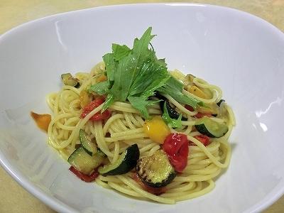 夏野菜のスパゲッティ