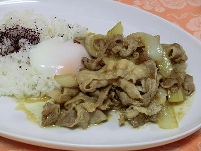 温卵のせ豚スタミナ焼&ライス