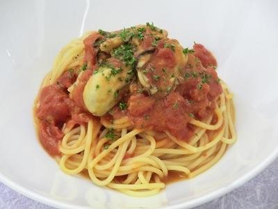牡蠣のトマトソース