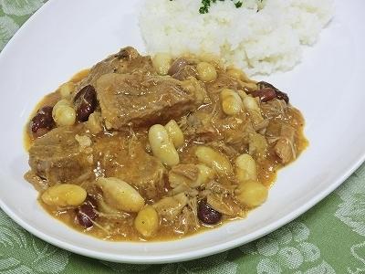 豚と豆の煮込み&ライス